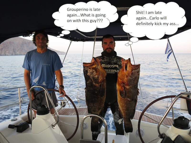 Between scattered island with Vassilis: when sailing comes togheter with spearfishing